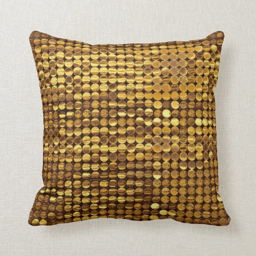 Gold Sparkling Sequin Look Pillow
