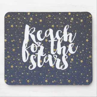 Gold Sparkling Stars Mouse Pad