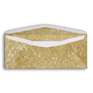 Gold Sparkly Faux Glitter Design Envelope