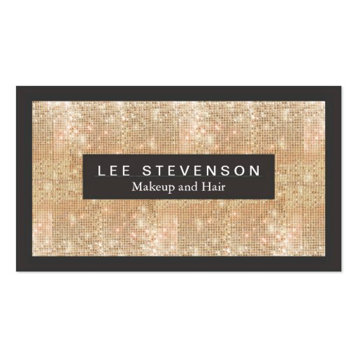 Gold Sparkly FAUX Sequins Makeup Artist Salon Double-sided Standard Business Cards (pack Of 100)
