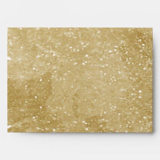 Gold Sparkly Glitter Design Envelopes