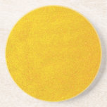 Gold Sparkly Glittery Yellow Golden Customizable Drink Coaster