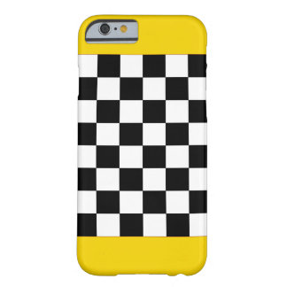 Gold Sparkly Taxi Checkerboard CricketDiane Barely There iPhone 6 Case