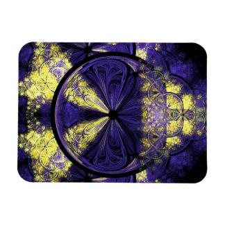 Gold Sparks on Dark Purple Magnet