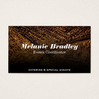 Gold Speckled Business Card