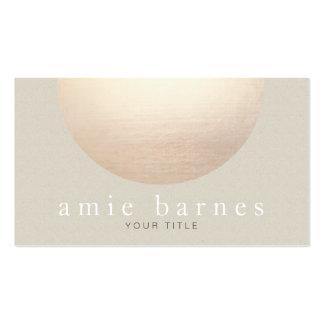 Gold Sphere Elegant Beige Textured Look Background Business Card