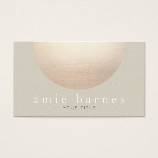 Gold Sphere Elegant Beige Textured Look Background Business Card