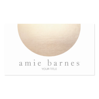 Gold Sphere Elegant White Minimalist Double-Sided Standard Business Cards (Pack Of 100)