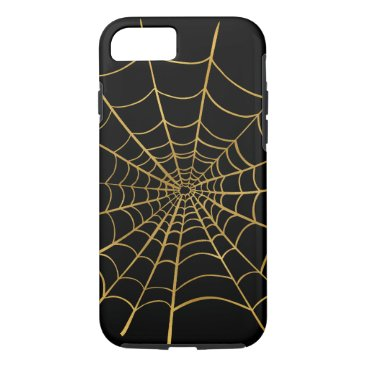 Halloween Themed Gold Spider Web iPhone 8/7 Case