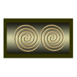 Gold Spiral Design Double-Sided Standard Business Cards (Pack Of 100)