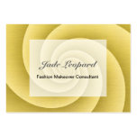 Gold Spiral in brushed metal texture Large Business Card