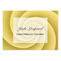 Gold Spiral in brushed metal texture Large Business Card (<em>$24.50</em>)
