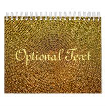 Gold Spiral Pattern Calendar