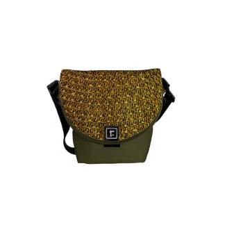 Gold Spiral Pattern Messenger Bag