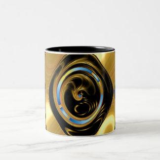 gold splash3 Two-Tone coffee mug