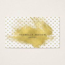 Gold Splatter Business Card