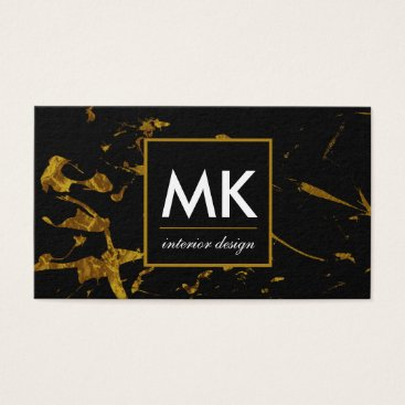 Professional Business Gold Splatter Business Cards Modern