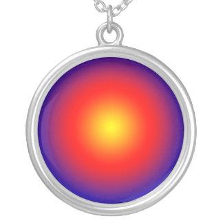 Gold Spot Sun Pattern  JAN 03 2011 MON Round Pendant Necklace
