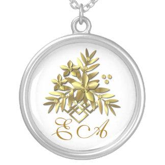 GOLD SPRAY  ~ Monogram Necklace