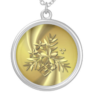 GOLD SPRAY  ~Necklace Silver Plated Necklace