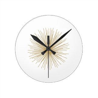 Gold Sputnik Starburst Wall Clocks
