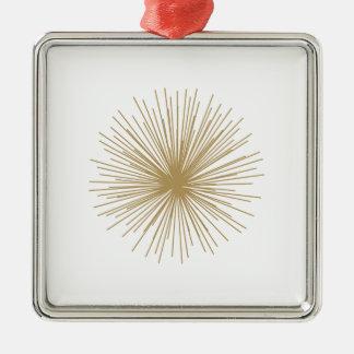 Gold Sputnik Starburst Metal Ornament