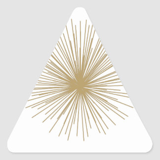 Gold Sputnik Starburst Triangle Sticker