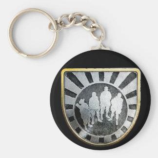 Gold Squad Pin Keychain