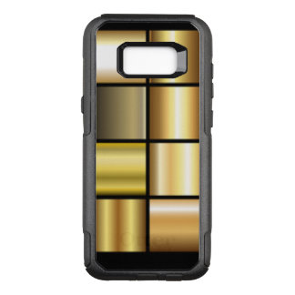 Gold Square Pattern Collage OtterBox Commuter Samsung Galaxy S8+ Case
