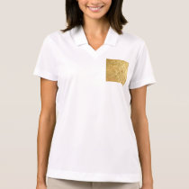 gold,square,pattern,golden,trendy,modern,chic,fun, polo shirt