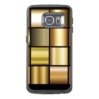 Gold Square Pattern Print Collage OtterBox Samsung Galaxy S6 Edge Case