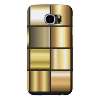 Gold Square Pattern Print Collage Samsung Galaxy S6 Case