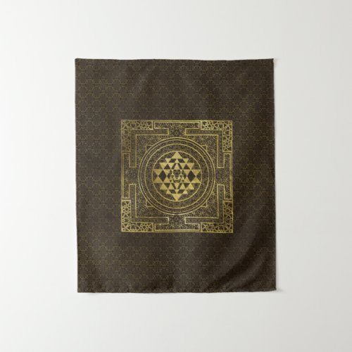 Gold Sri Yantra   Sri Chakra Tapestry