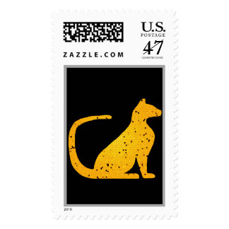 Gold Stained Glass Cat CrystalKatz Postage