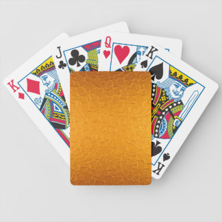Gold Stainless Shiny Metallic Bicycle Playing Cards