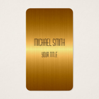 Gold Stainless Steel Metal Business Card