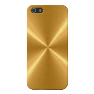 Gold Stainless Steel Metal iPhone 5/5S Cases