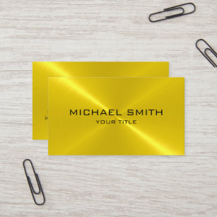 Metallic business cards zazzle gold stainless steel metal business card colourmoves