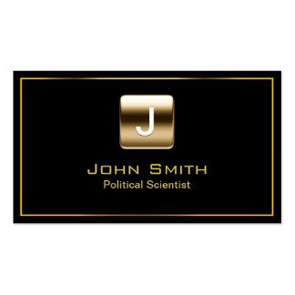 Gold Stamp Political Scientist Dark Business Card