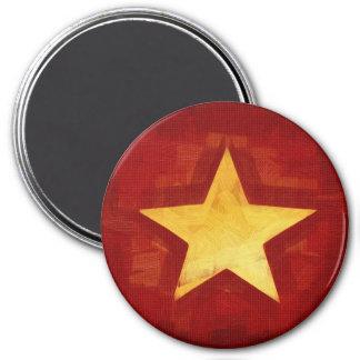 gold star 3 inch round magnet