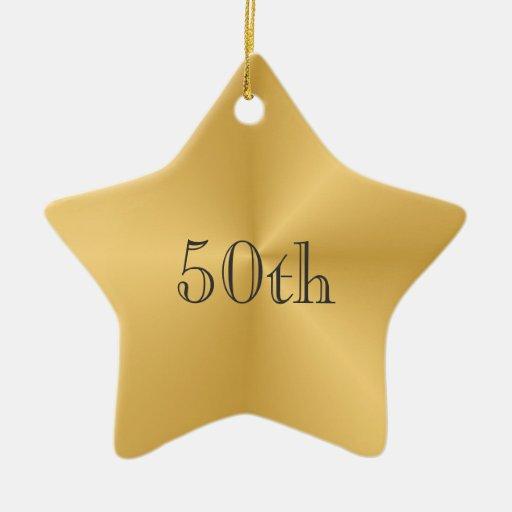 Gold Star 50th Anniversary Ornament