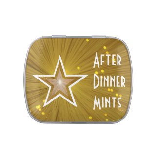 """Gold"" Star 'After Dinner Mints' candy tin"