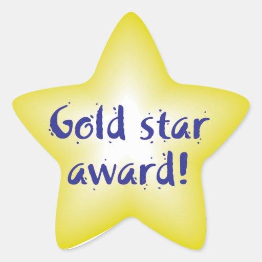 Gold star award stickers | Zazzle