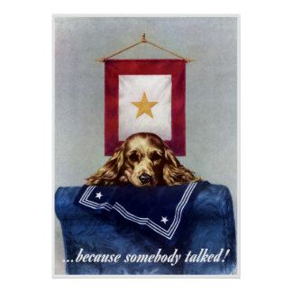Gold Star -- Because Somebody Talked -- Border Poster