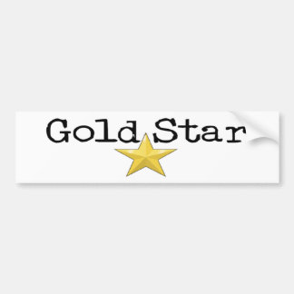 Gold Star Bumper Sticker