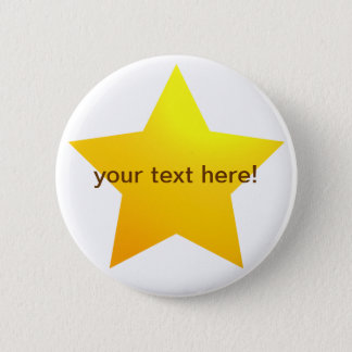 Gold star - button badge