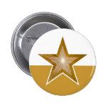 """Gold"" Star button gold white"