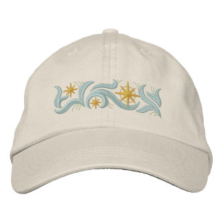 Gold Star Christmas Embroidered Baseball Cap