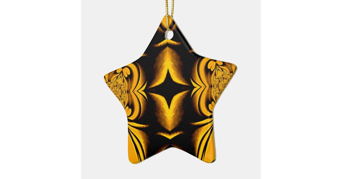 Gold star christmas ornament zazzle