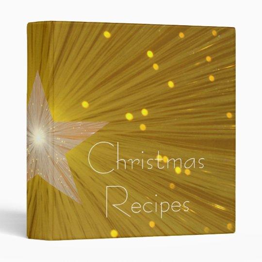 Gold Star 'Christmas Recipes' binder
